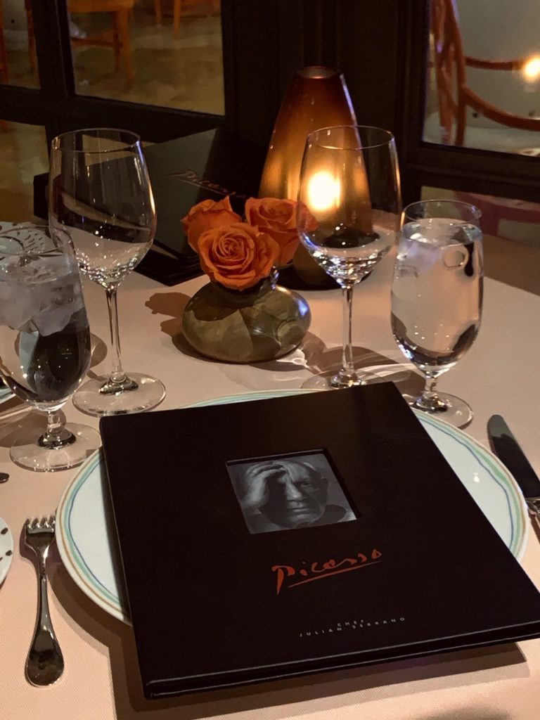 ピカソの絵画に囲まれながら地中海フレンチが堪能 出来るレストラン8
